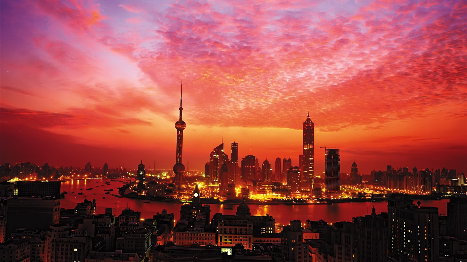 wallpaper sunset in shanghai 1920x1200 hd picture image