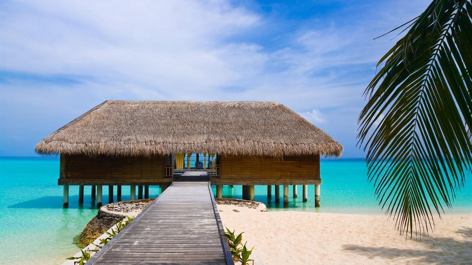Домик на пляже картинка