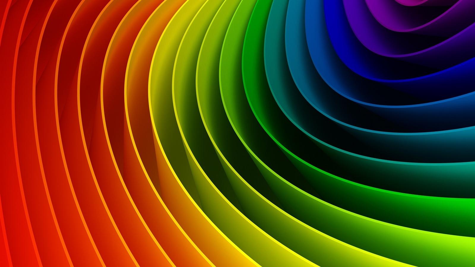 Arco Iris De Colores Curvas Fondos De Pantalla 1600x900 Fondos De HD