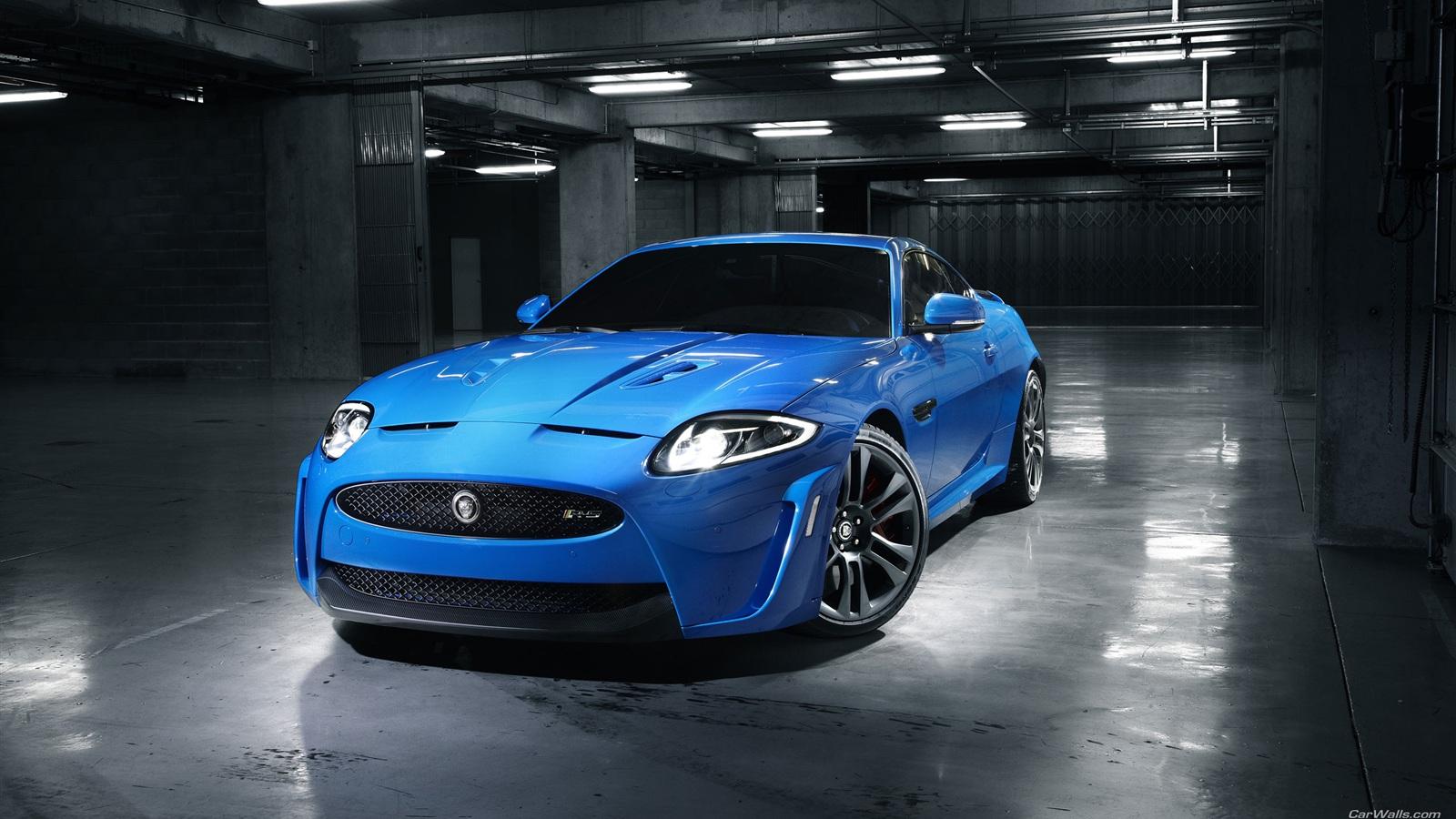 1600x900 HD Wallpaper Jaguar Blue Car