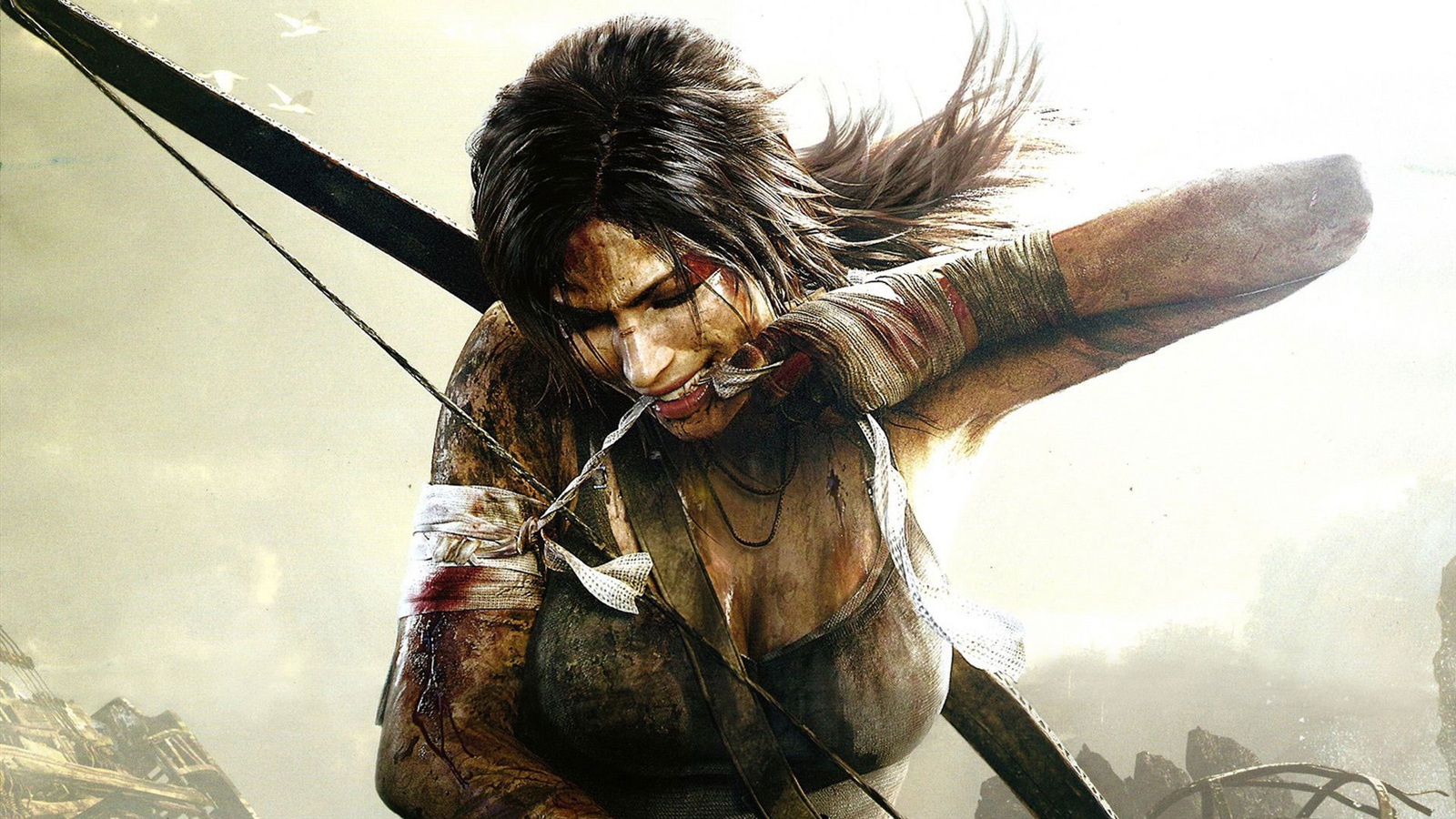 Lara Croft in Tomb Raider 9 wallpaper - 1600x900