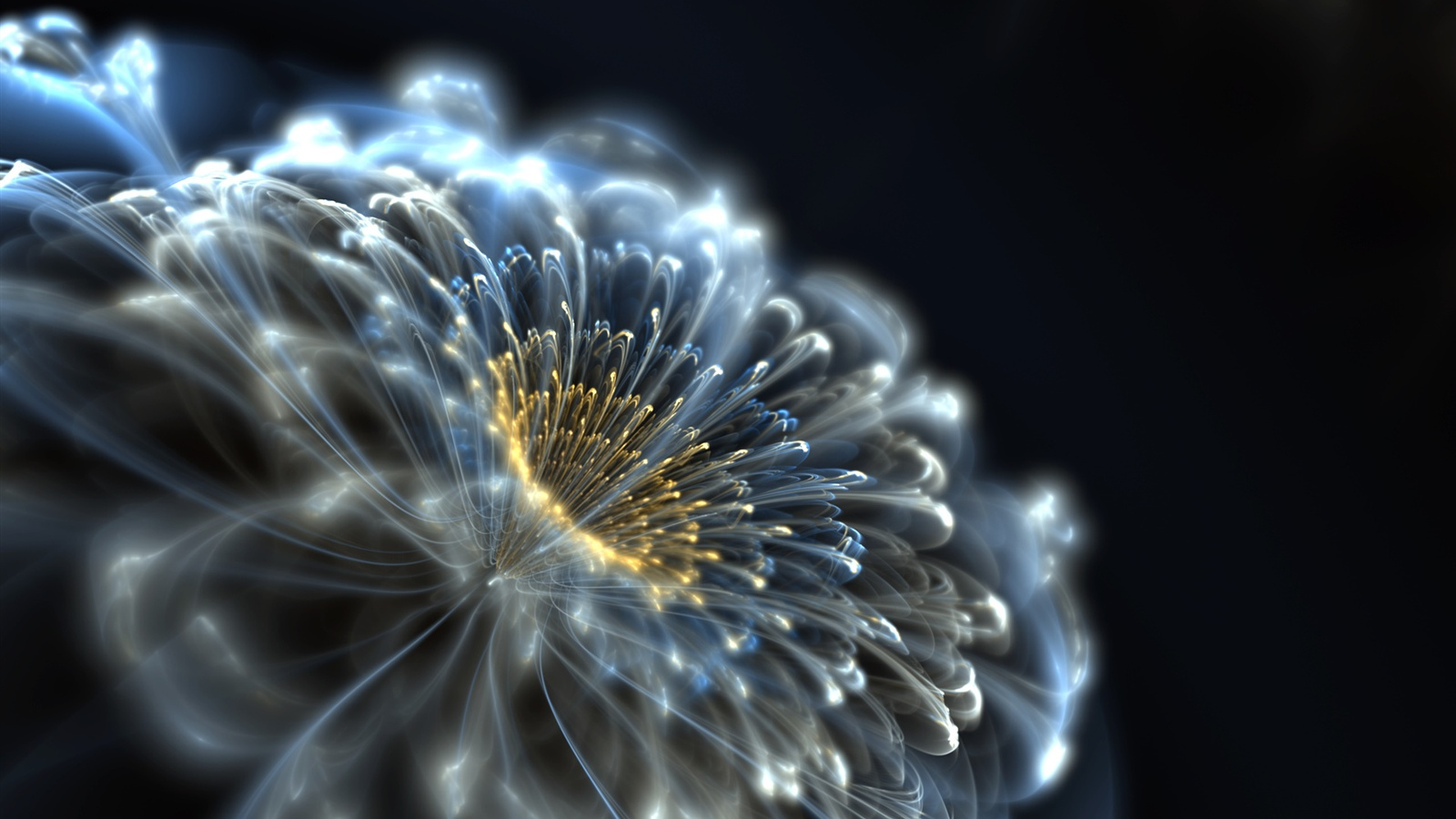 Abstract neon flower wallpaper - 1600x900