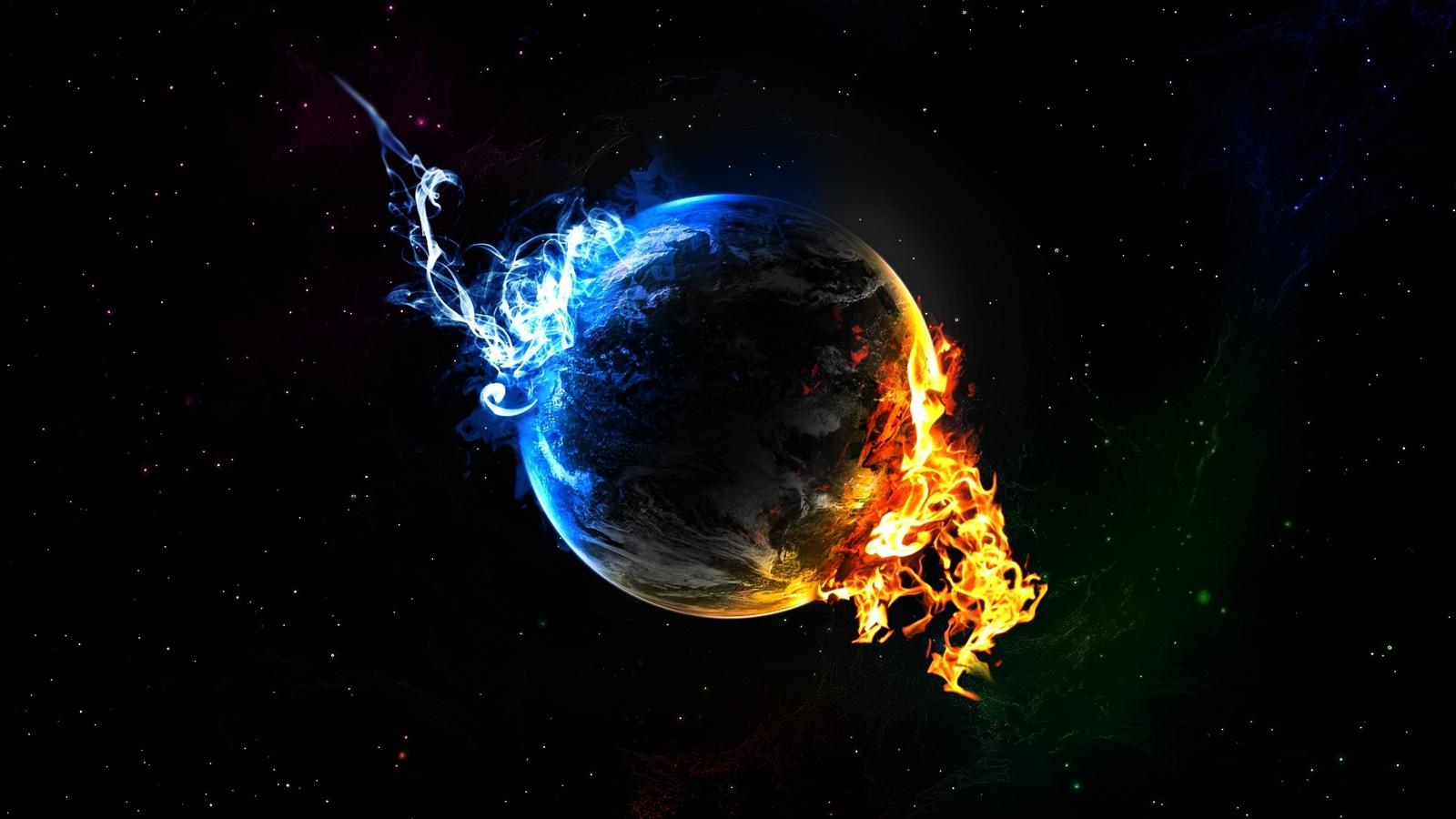 Planète froide et chaude Fonds d'écran   1600x900 Fonds d'écran de téléchargement   FR.Best ...