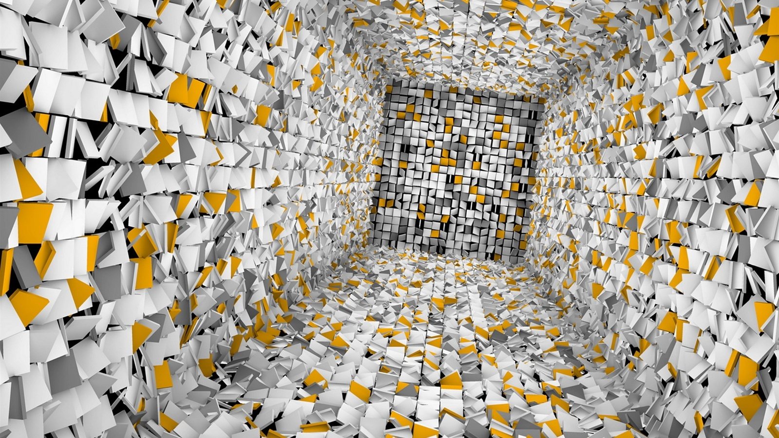 Wallpaper Lost In The Abstract 3d Room 1680x1050 Hd Picture