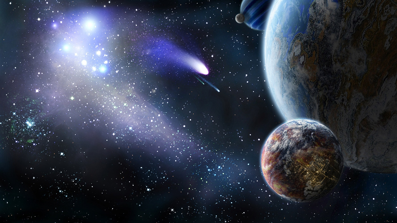 space wallpapers 1600x900 -#main