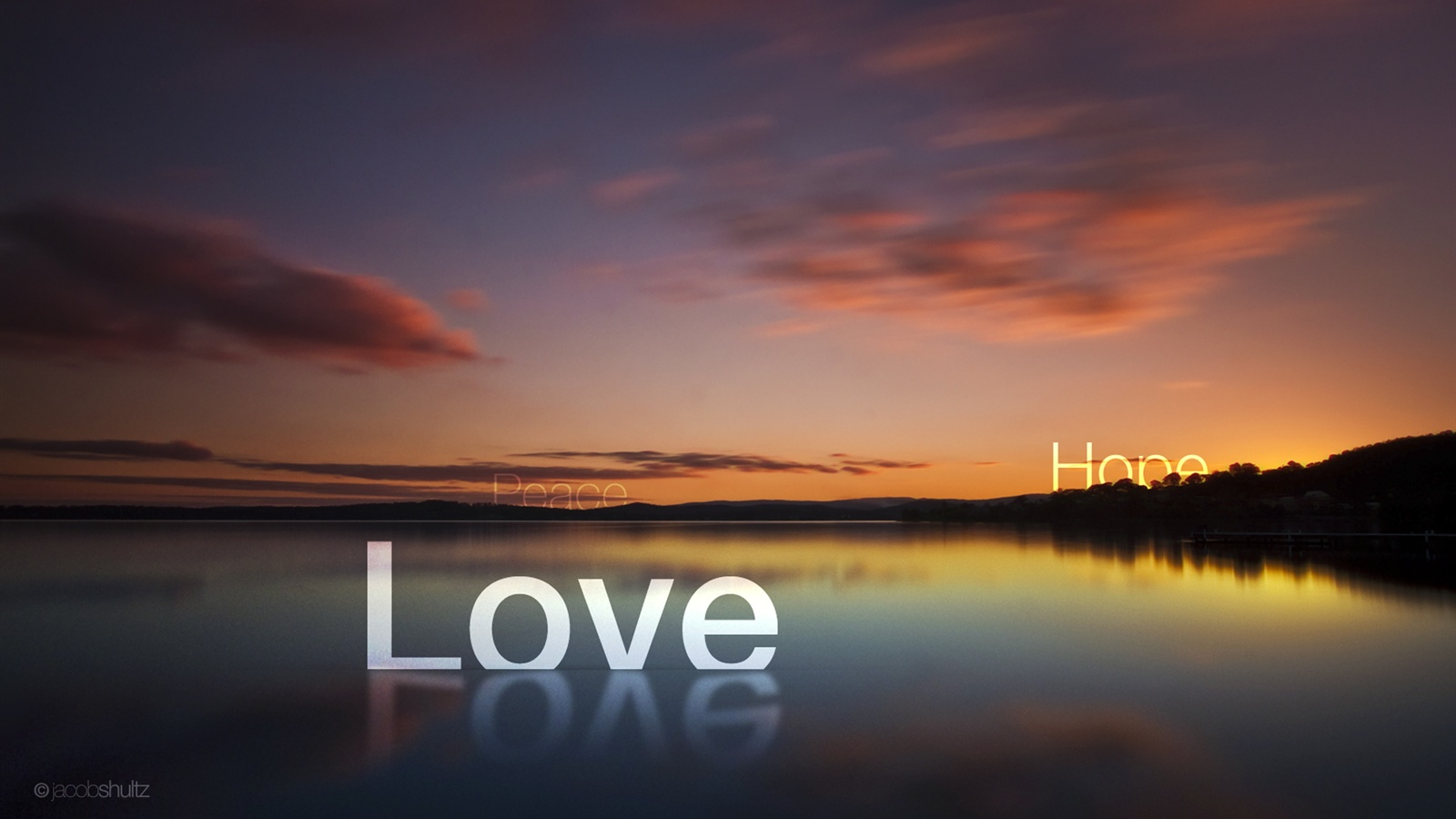 Love peace hope wallpaper - 1600x900