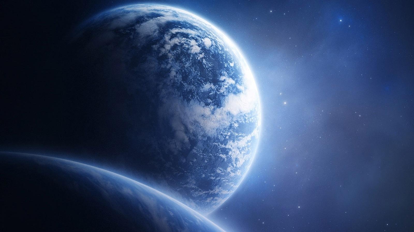 Fonds d'écran Planète Terre depuis l'espace 1920x1080 Full HD 2K image