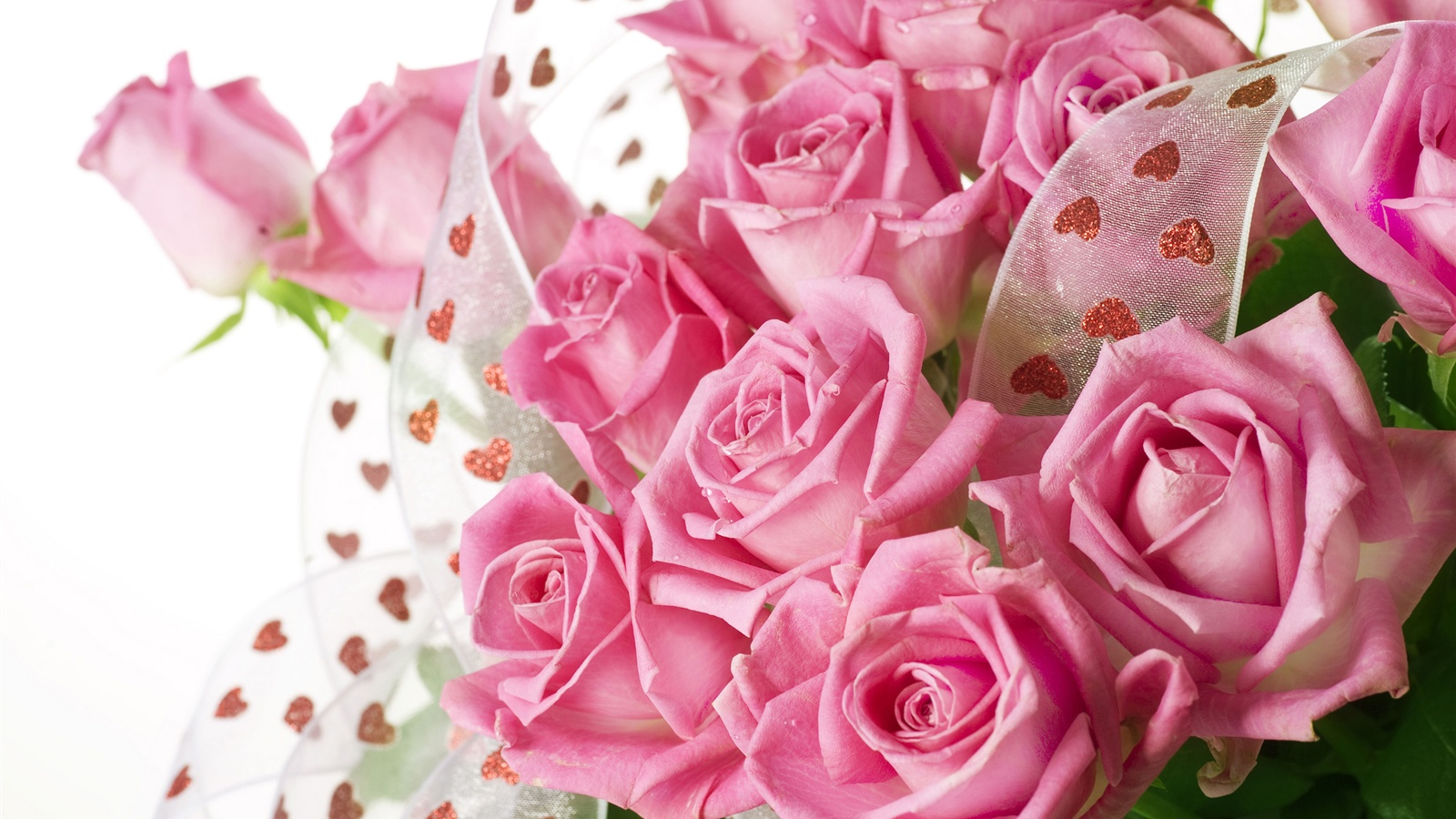 2560x1600 hd - Pink roses and hearts wallpaper ...
