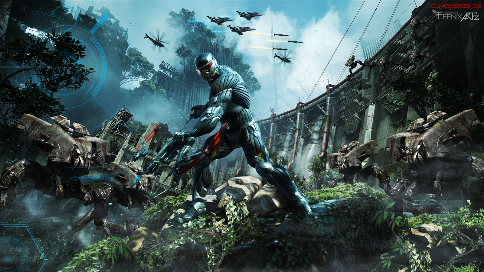Crysis 3 2013 Video Game 4k Hd Desktop Wallpaper For 4k: Wallpaper Crysis 3 Fighters 1920x1080 Full HD 2K Picture