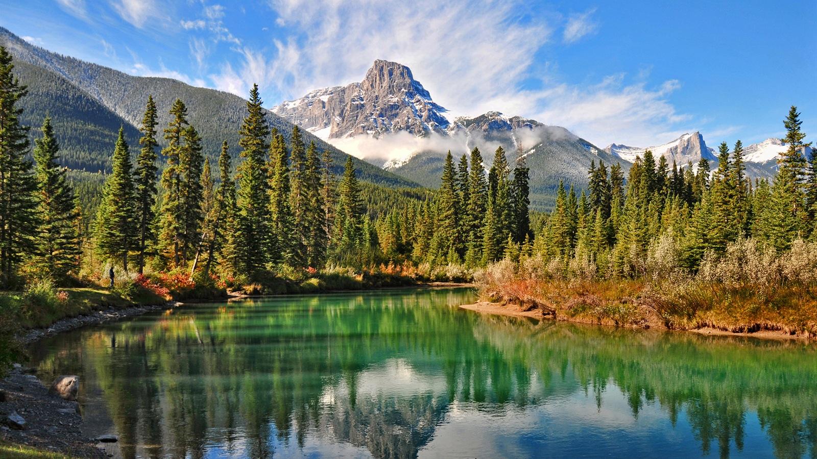 Paisaje natural de la canadiense lake forest fondos de pantalla