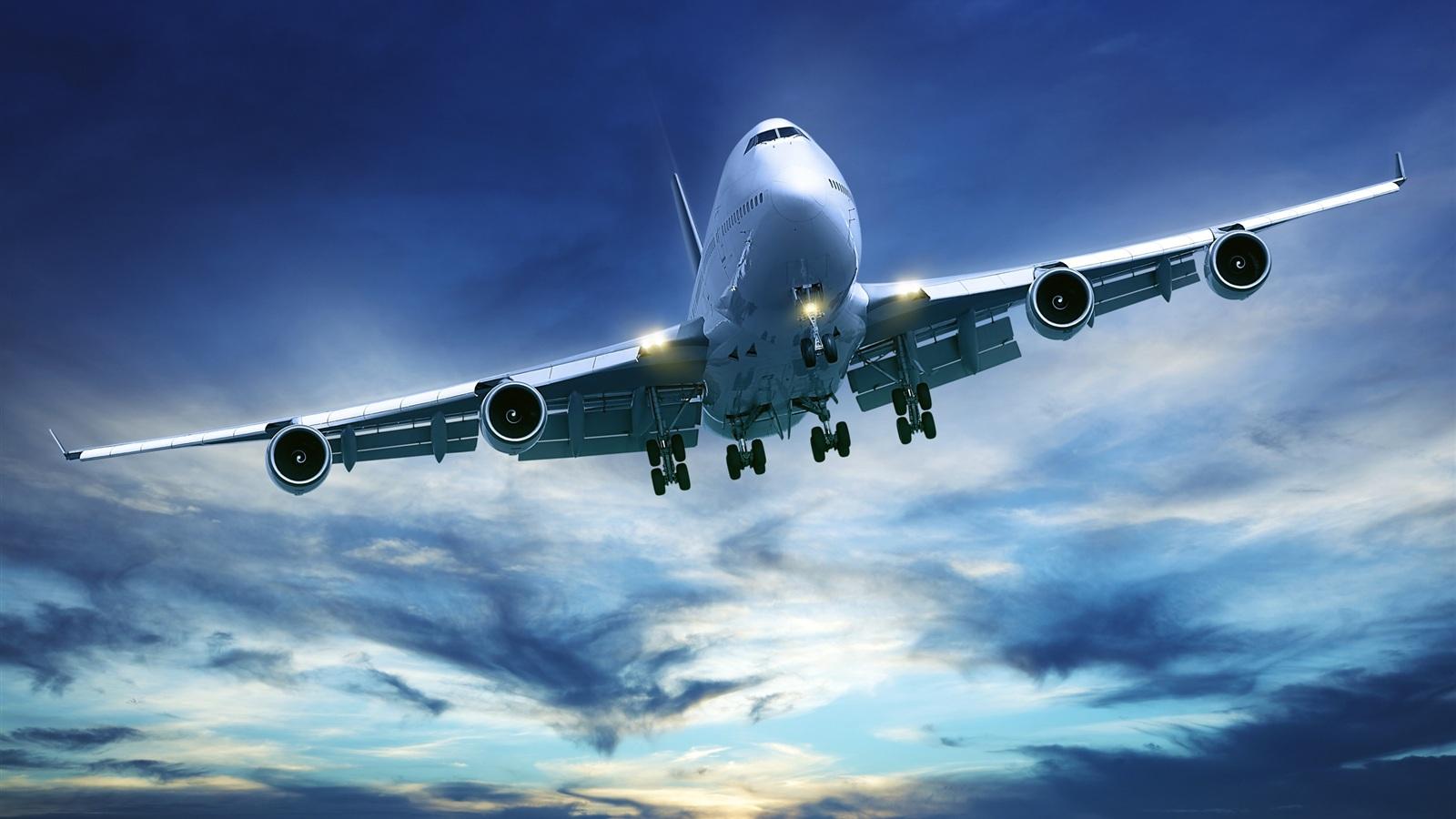 旅客機ボーイング747 壁紙 - 1600x900    1600x900 壁紙ダウンロード