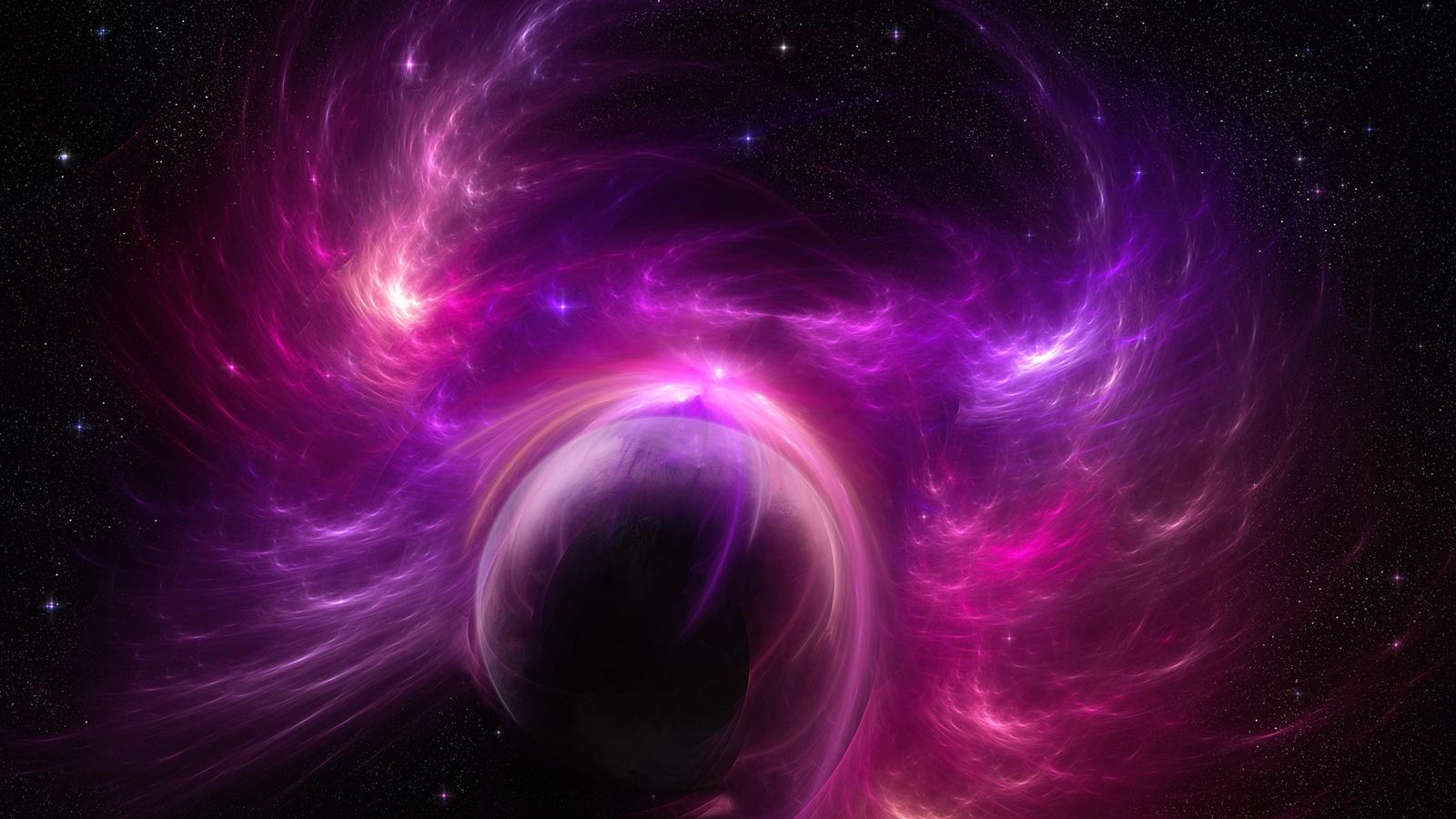6 Awesome Cosmos Inspired Hd Wallpapers: Fonds D'écran Tempête Planète Univers Violet 1920x1200 HD
