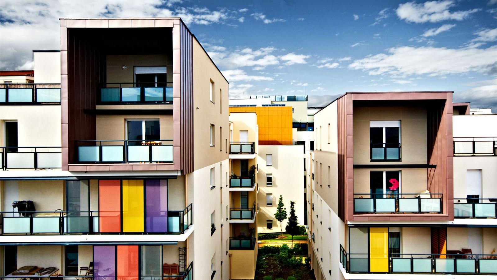 Francia lyon casas arquitectura ciudad fondos de - Arquitectura lyon ...