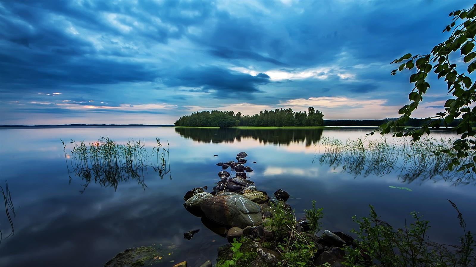 Teich See Am Fr 252 Hen Morgen Sch 246 Nheit Steine Wald