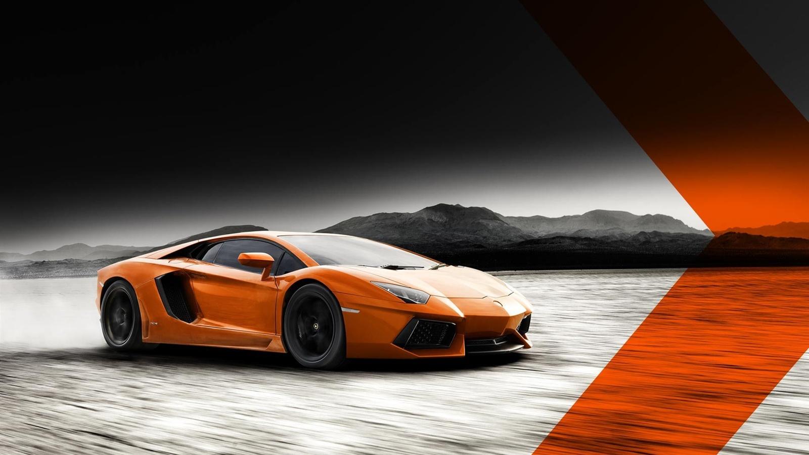 Wallpaper Lamborghini Aventador Lp700 4 Orange Color