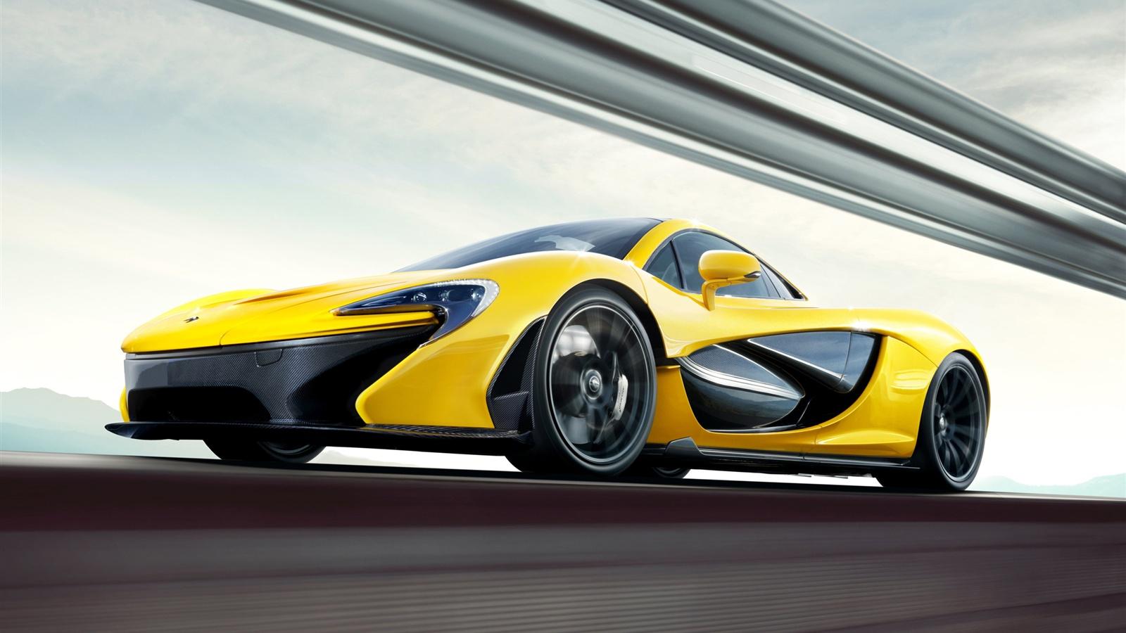 p1 jaune supercar fond...
