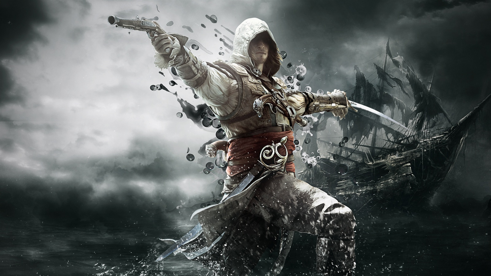 1600 x 900 gaming wallpaper: Papéis De Parede 2013 Jogo, Assassins Creed 4: Black Flag