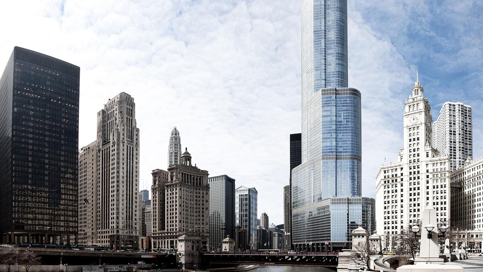 Обои высотки, чикаго, chicago, небоскребы, center. Города foto 8