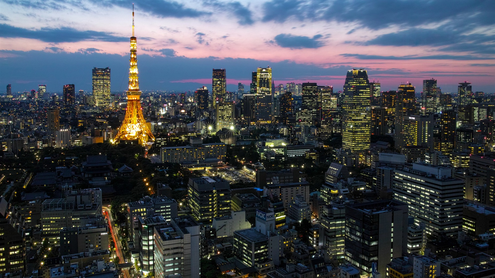 Wallpaper Japan Capital Tokyo City Lights Tower Houses