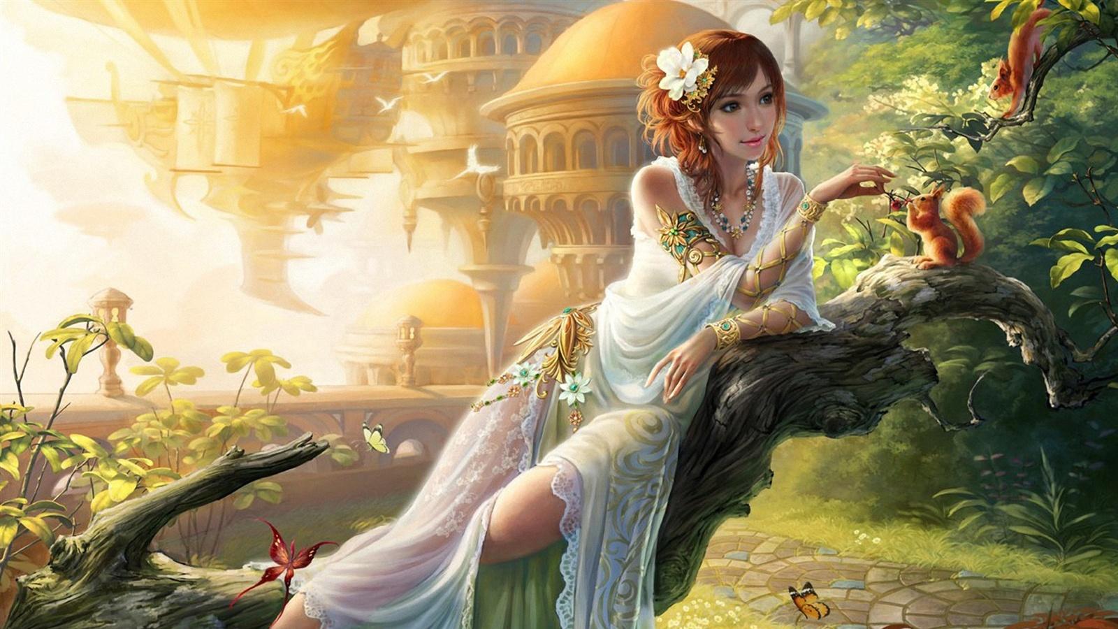 294 Best Fantasy Art 4 Images On Pinterest: Art Fantasy Girl, Fütterung Eichhörnchen, Garten