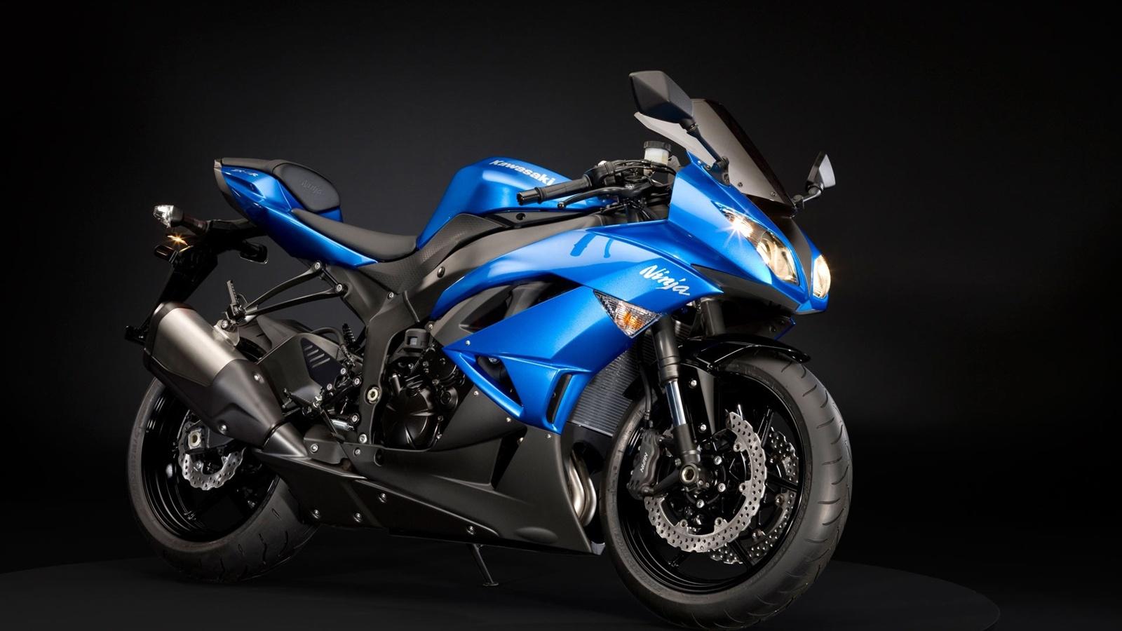 Wallpaper Kawasaki Ninja Zx 6r Motorcycle Blue 19x10 Hd Picture Image