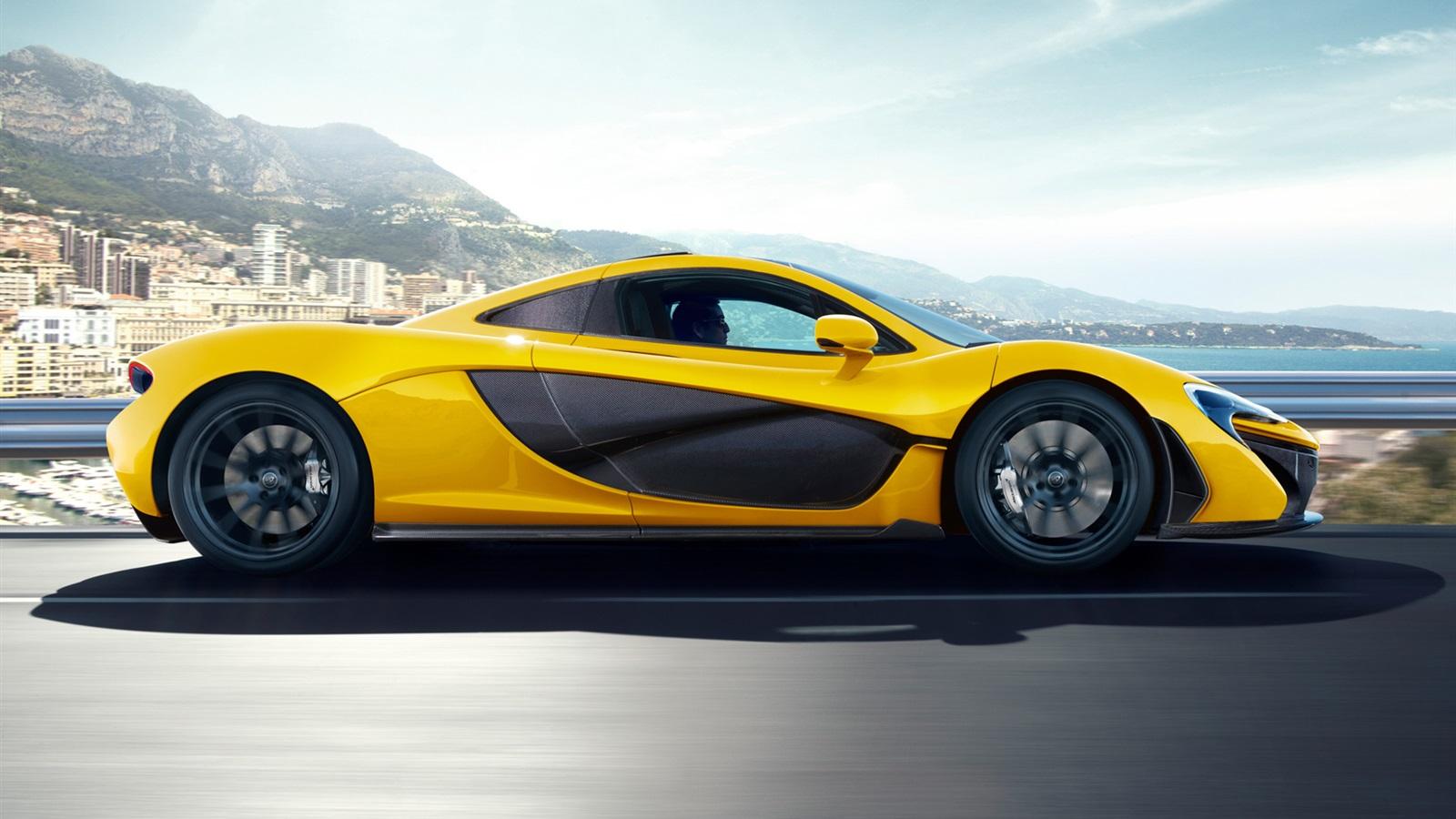 mclaren p1 yellow car ...