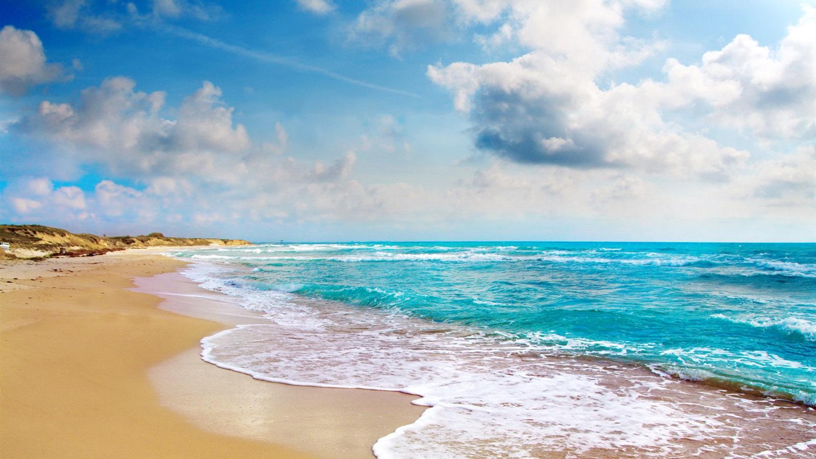 Wallpaper Tropical landscape, beach, coast, blue sea ...