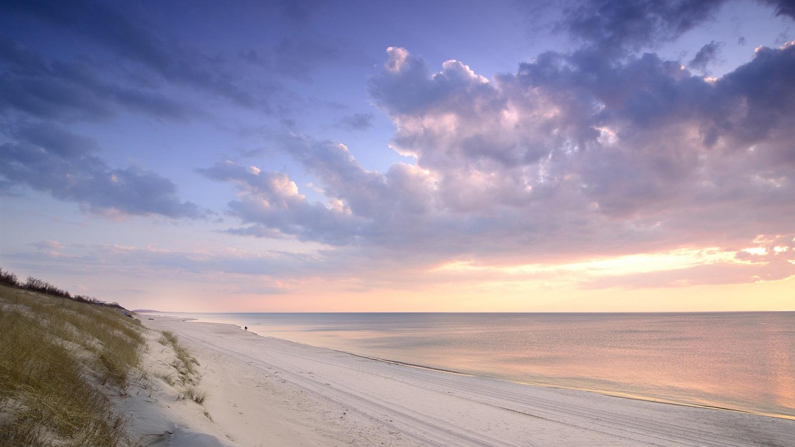 Wallpaper Curonian Spit Lithuania Baltic Sea Beach