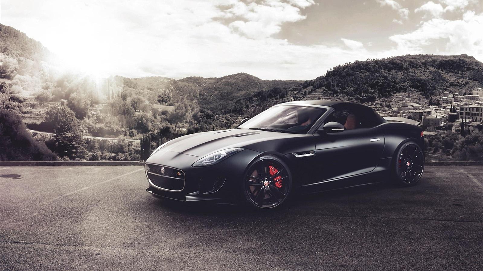 Black Jaguar Car Wallpaper