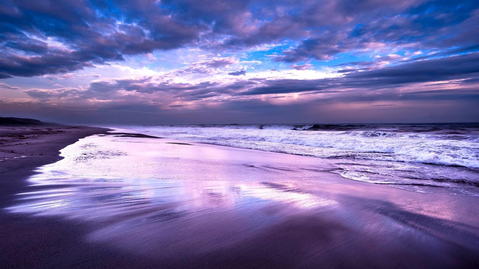 Wallpaper Sea Ocean Beach Night Sky Clouds Dusk 1920x1200 Hd