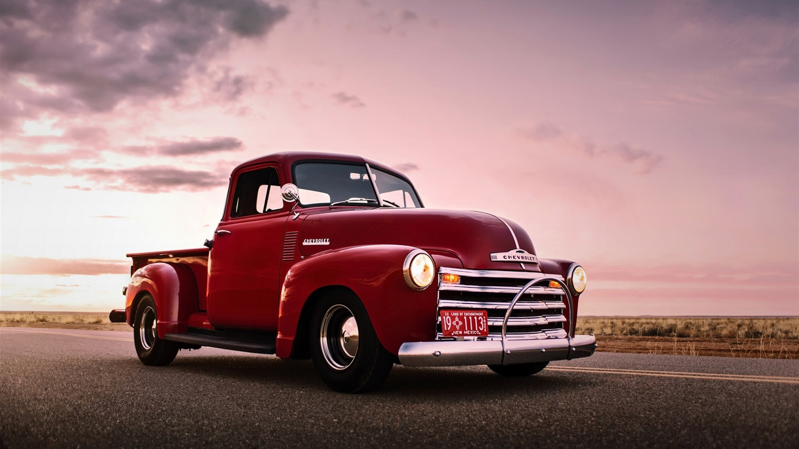 Fondos de pantalla Chevrolet, camioneta roja, retro, coche ...