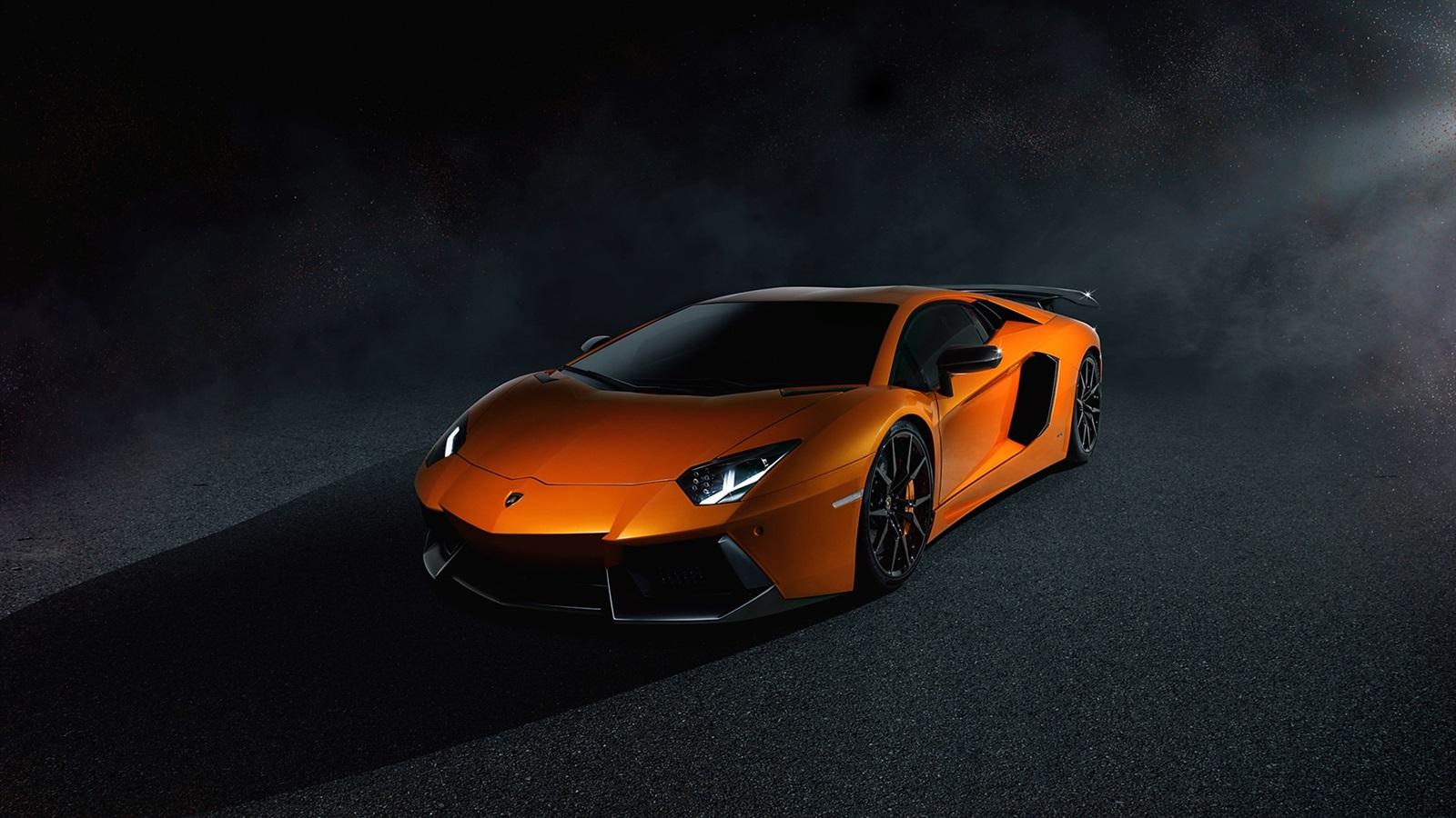 Lamborghini Aventador Lp700 4 Orange Supercar Nacht