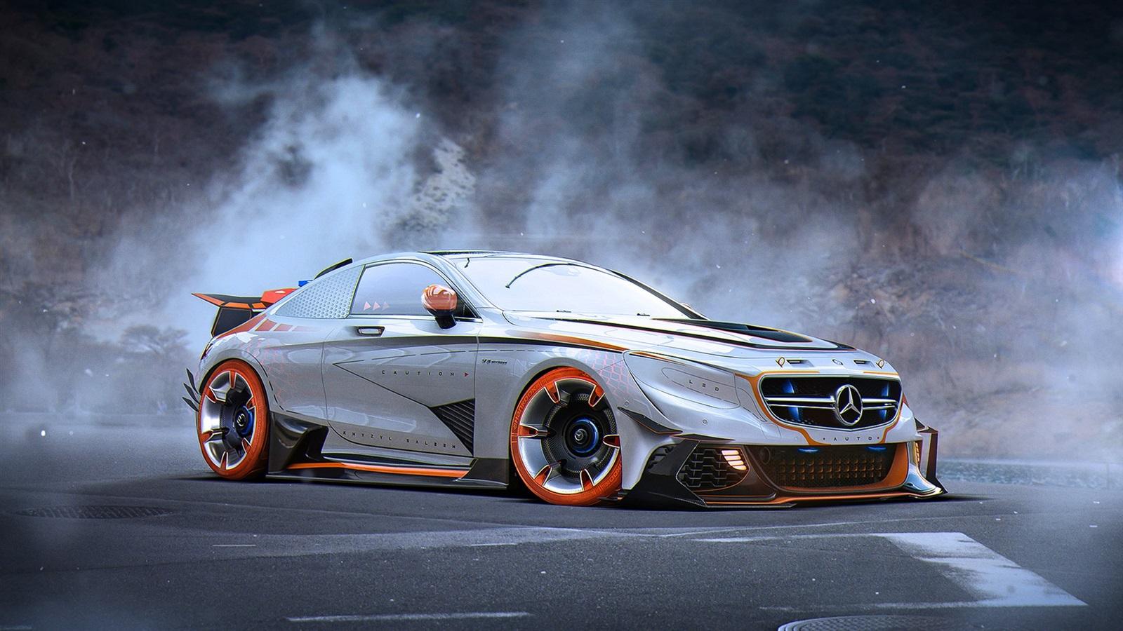 Mercedes S63 Amg Coupe >> Fonds d'écran Mercedes-Benz S63 AMG voiture argentée vue ...
