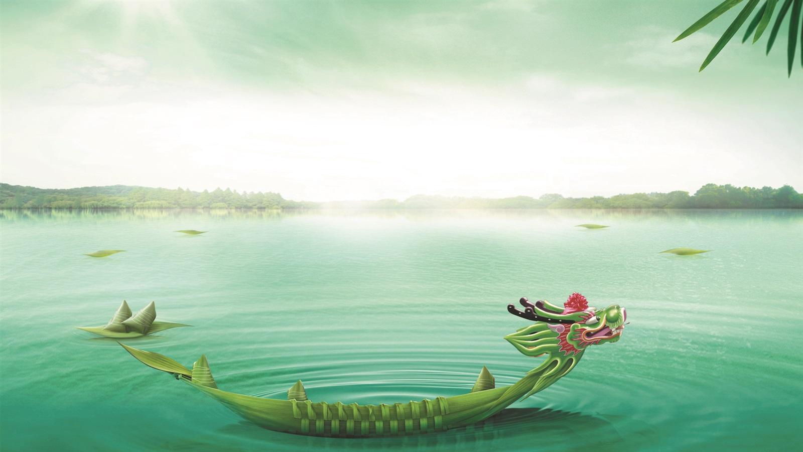 Dragon Boat Festival Lac Zongzi Fonds D&233cran
