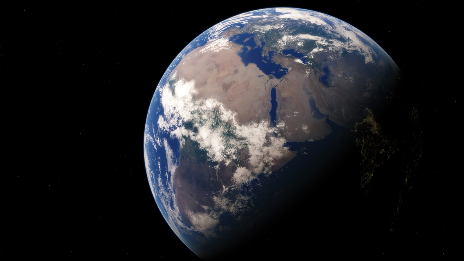 Earth our home planet space black background wallpaper - Space wallpaper 1600x900 ...