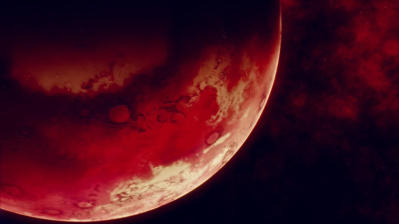 Fondos De Pantalla Planeta Rojo, Espacio, Fondo Negro