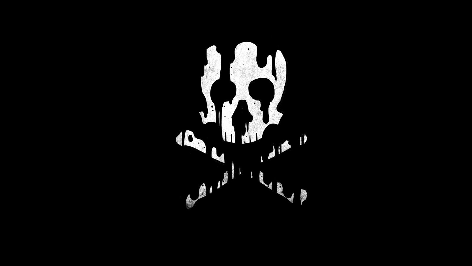 Skull, Bones, Black Background 640x1136 IPhone 5/5S/5C/SE