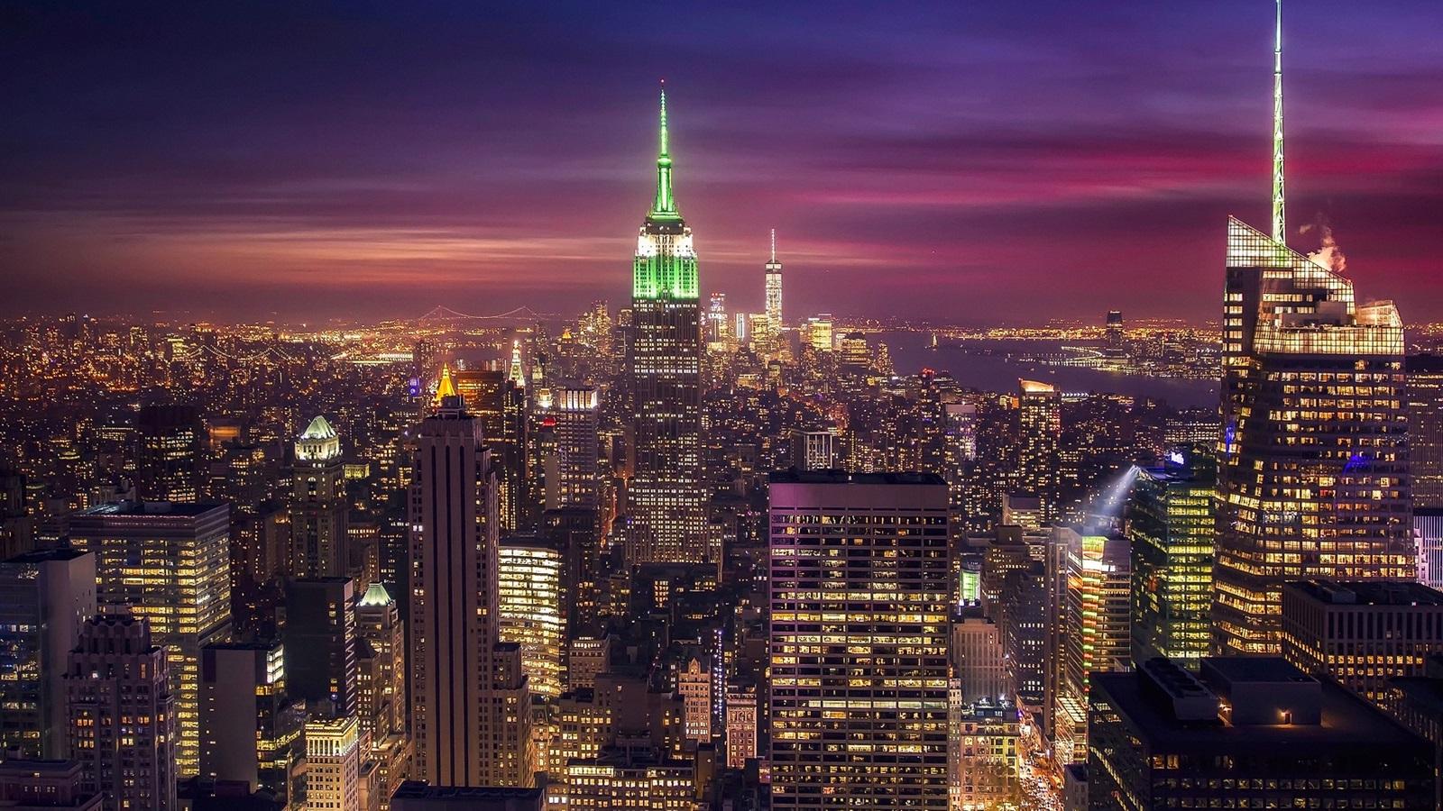 Fonds Décran New York états Unis Nuit De La Ville Gratte