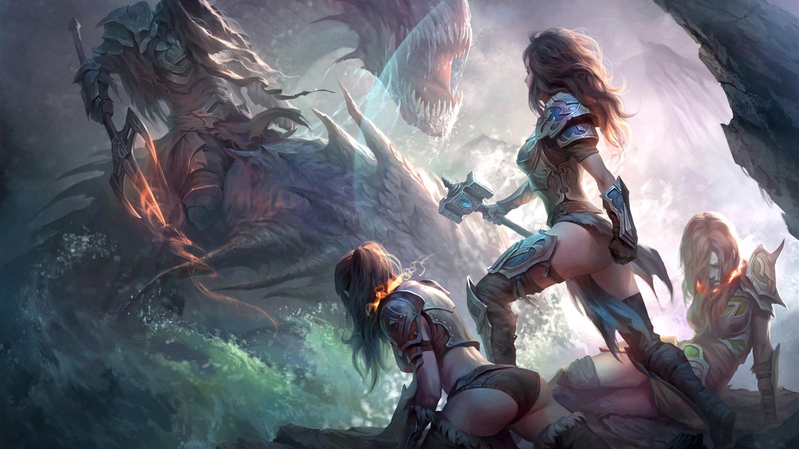 Archer Girl Fantasy 2 4k Hd Desktop Wallpaper For 4k Ultra: Wallpaper Dragons Of Eternity, Game Art Picture, Girl