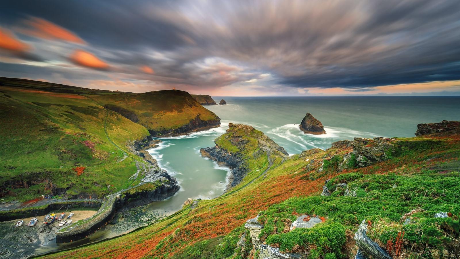 Fonds d'écran Paysage magnifique nature, montagnes, mer, côte, couleurs 1920x1200 HD image