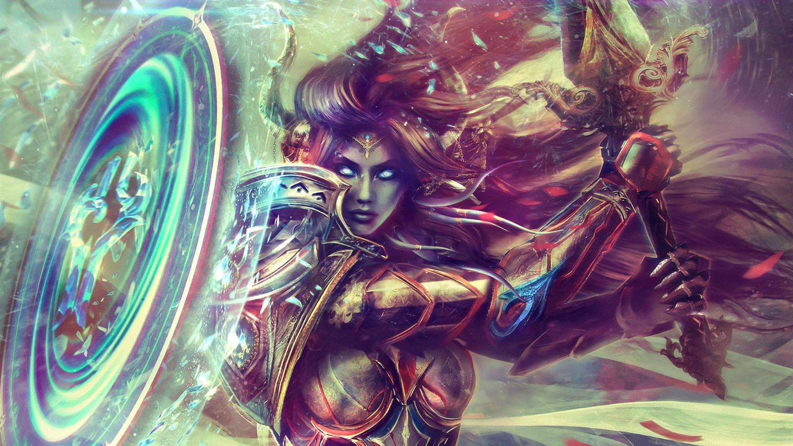 World Of Warcraft Armor Paladin Girl Art Picture 640x1136