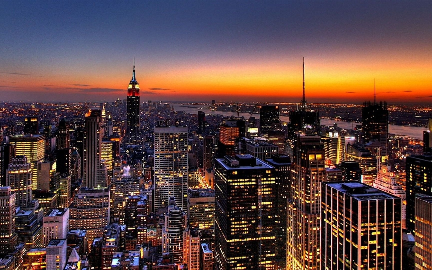 Skyline von new york hintergrundbilder 1680x1050