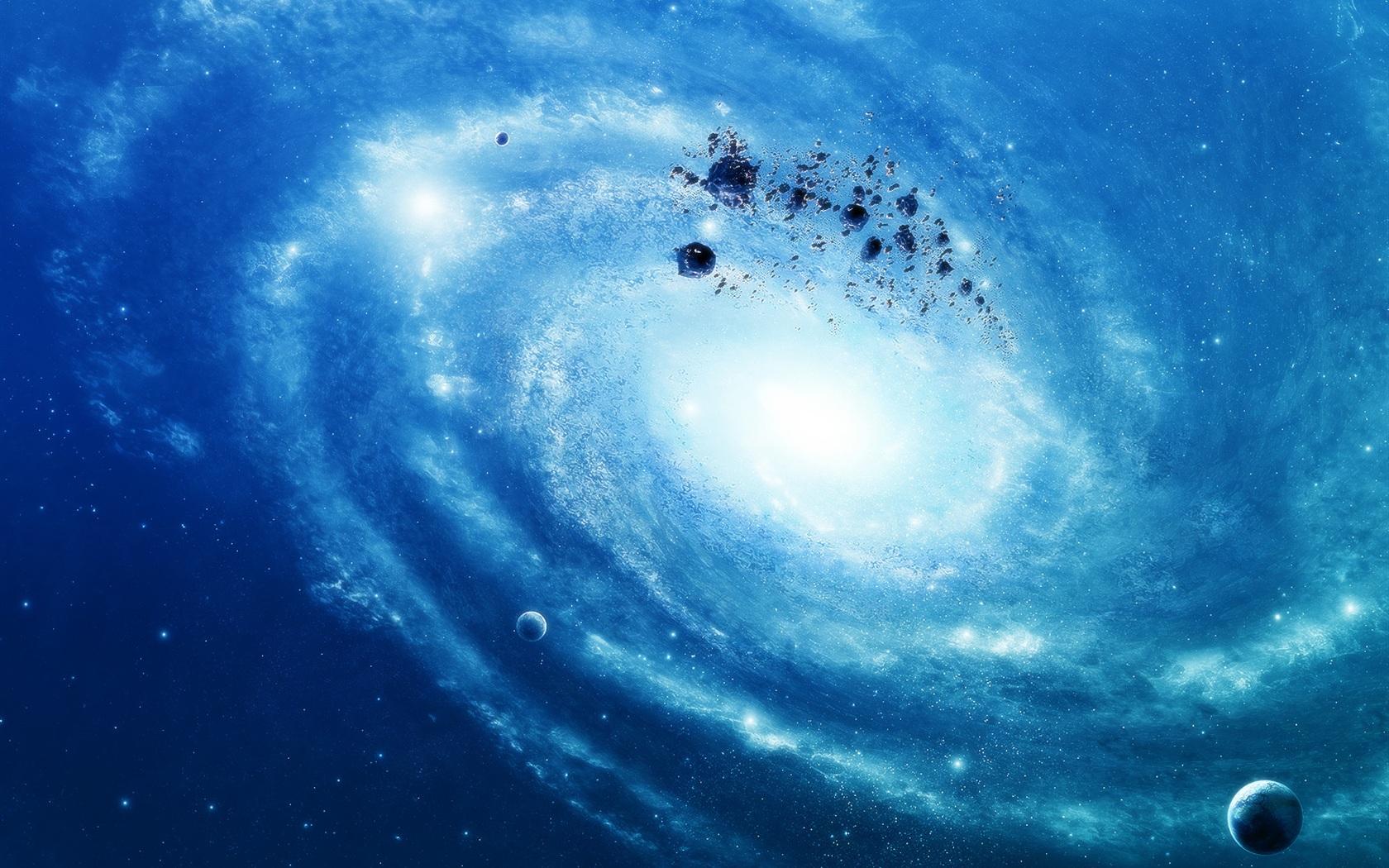 星系银河桌布蓝色-1680x1050杜曼教学法图片