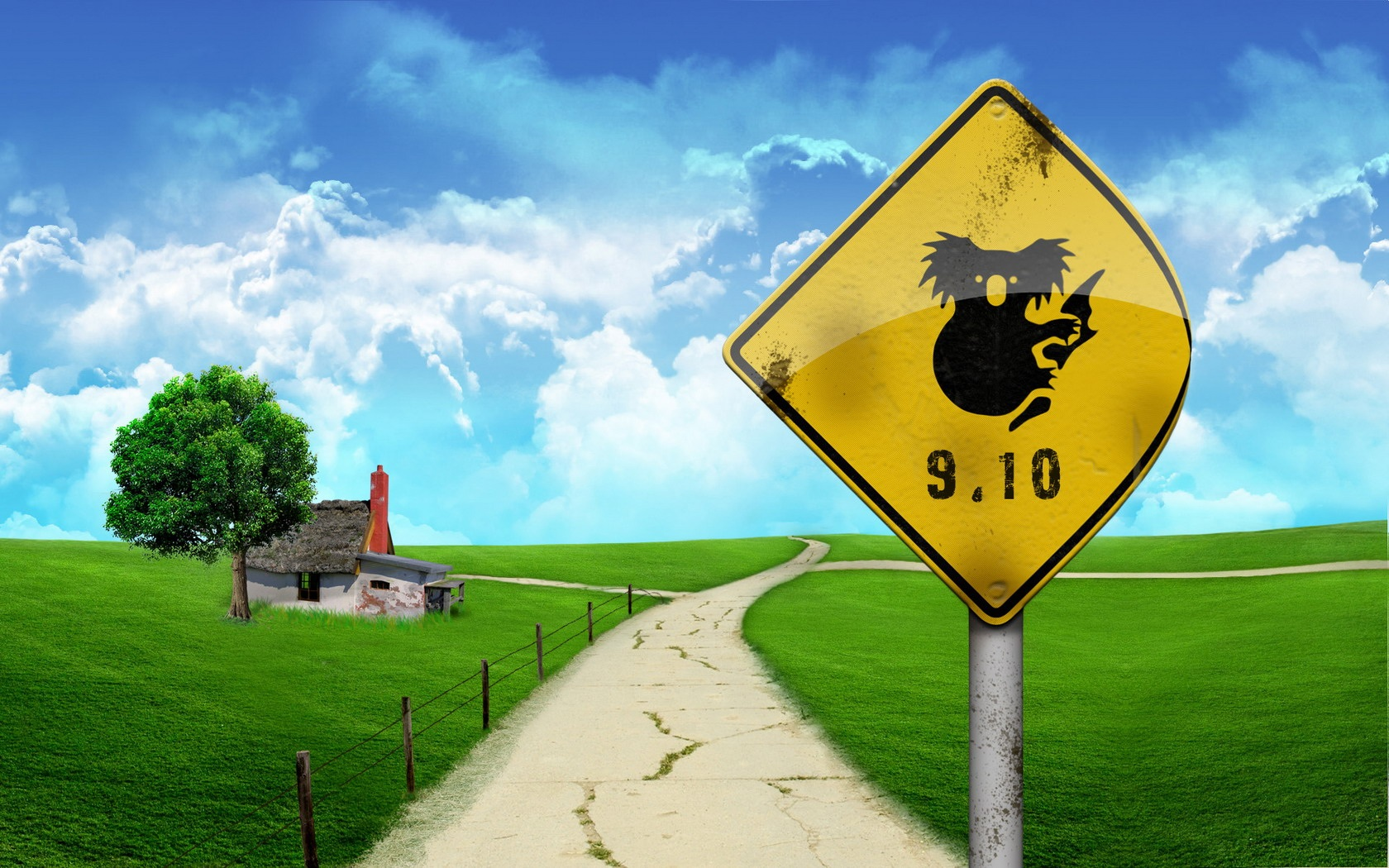Wallpaper Summer Road Signs 1680x1050 HD Picture Image
