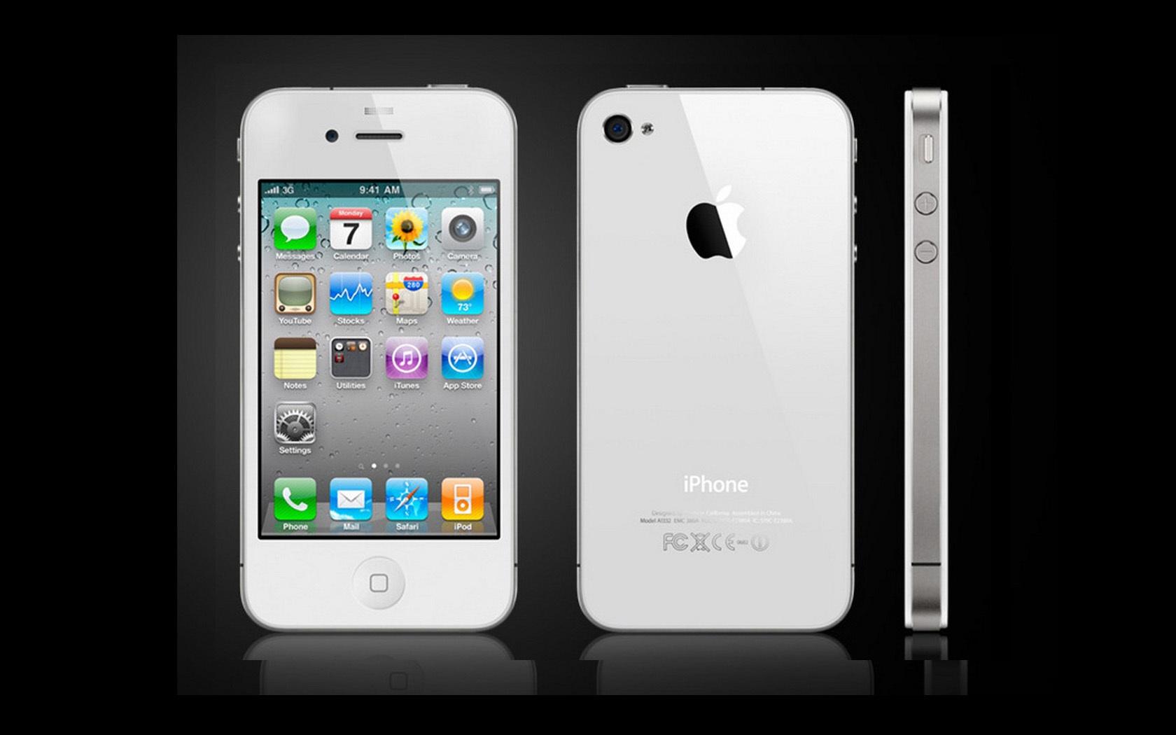 iphone 4s white wallpaper 1680x1050 resolution wallpaper