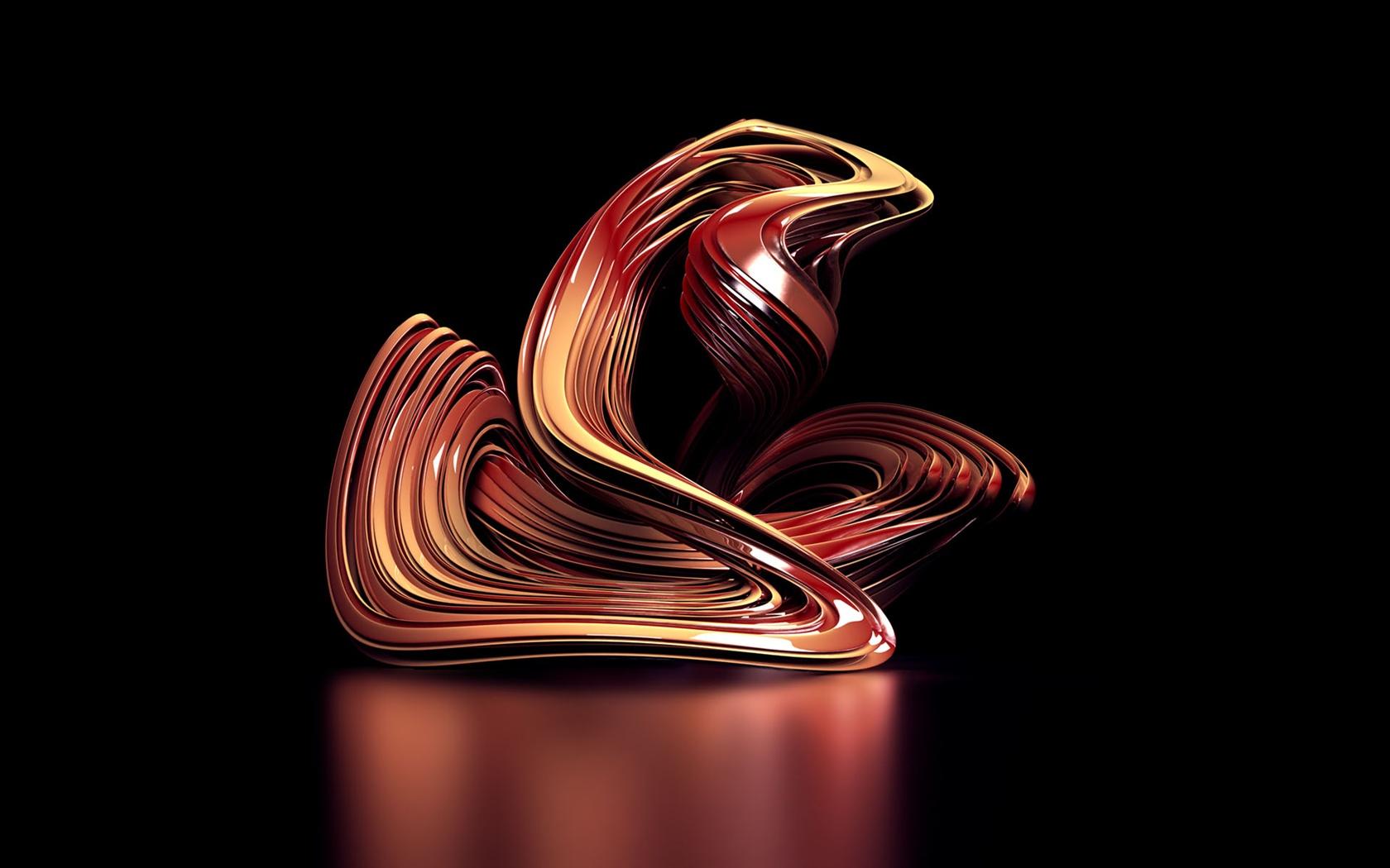 3D Courbe Abstraite Fonds D&233cran  1680x1050 D