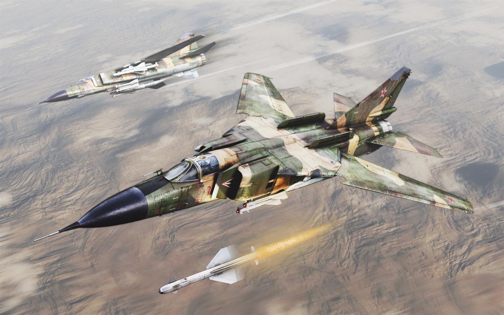 航空機がミサイルを発射した 壁紙 - 1680x1050    1680x1050 壁紙ダウンロ