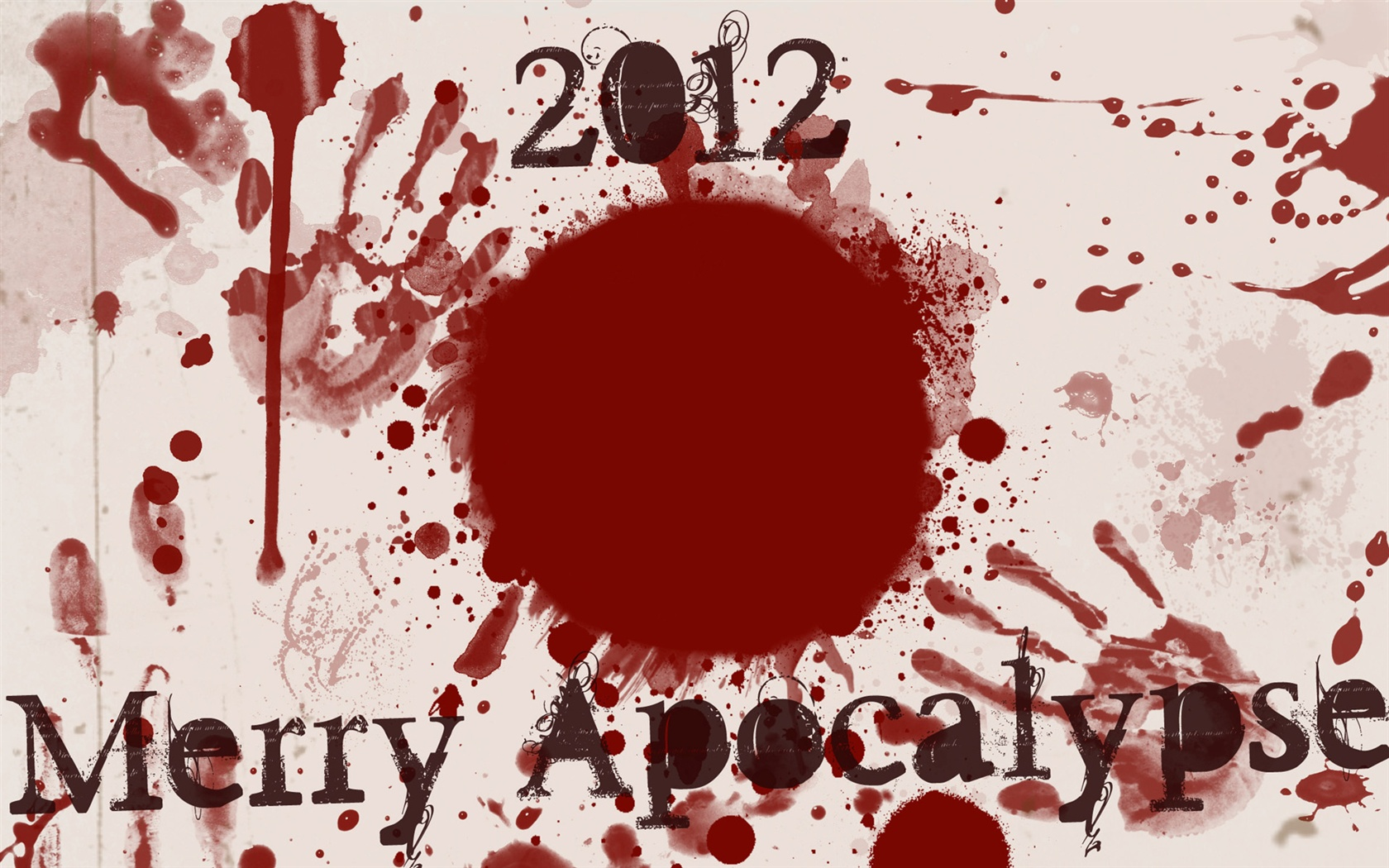 2012 Merry Apocalypse wallpaper - 1680x1050