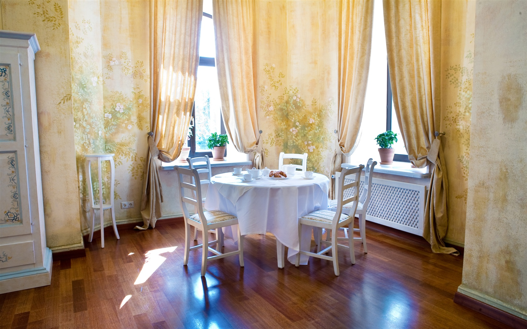 Cozy Dining Space: Wallpaper Environment Cozy Dining Room 2560x1600 HD