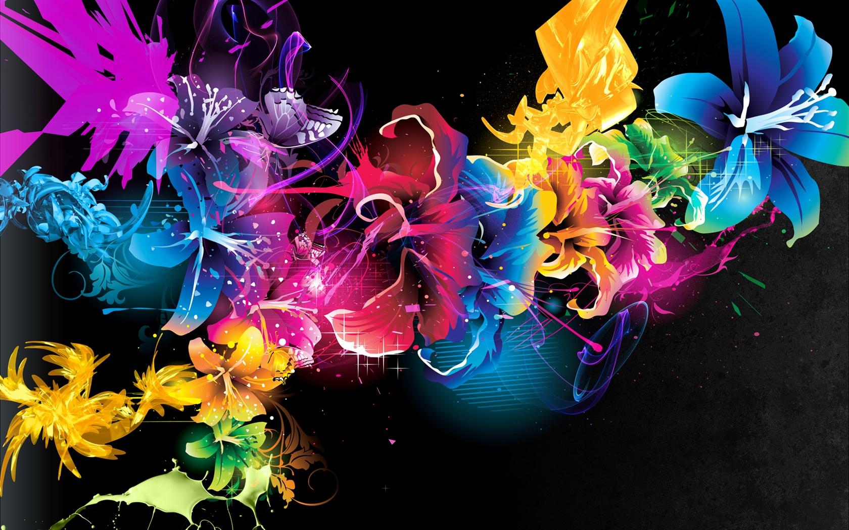 Patrones Abstractos Lineas De Colores Las Flores Fondos De
